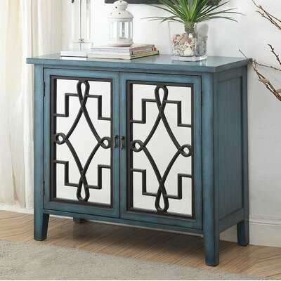 Ingle 2 Door Accent Cabinet Color: Antique Light Blue
