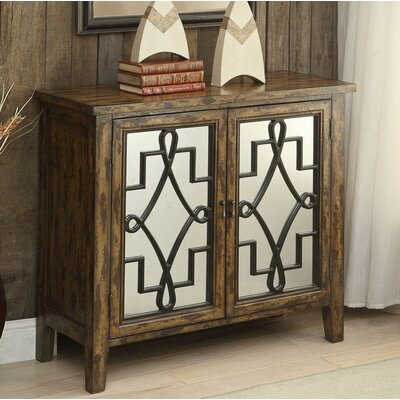 Ingle 2 Door Accent Cabinet Color: Antique Oak