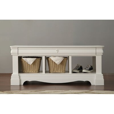 Eustice Wood Storage Bench