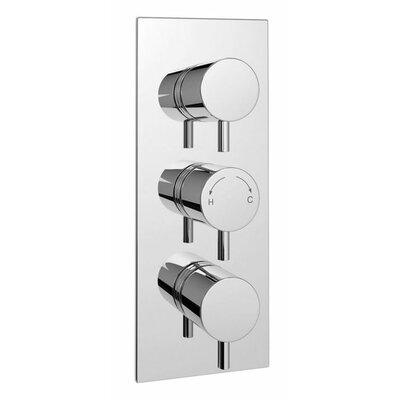 DeéGB Roundi Twin Concealed Thermostatic Shower Valve