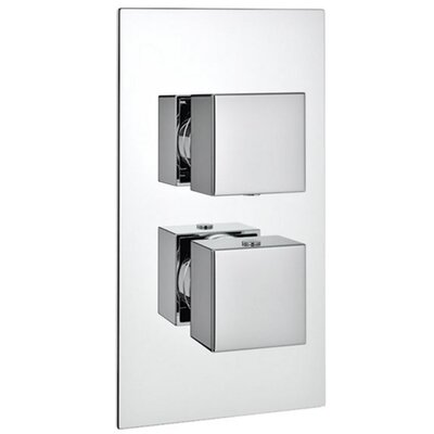 DeéGB Squari Twin Concealed Thermostatic Shower Valve with Diverter