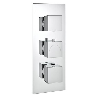 DeéGB Squari Twin Concealed Thermostatic Shower Valve
