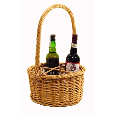 Artesania San Jose Round Basket For Bottles