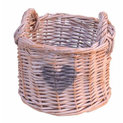 Artesania San Jose Round Basket with Heart