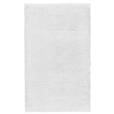 """Fortney Rayon from Bamboo Cloud Bath Rug Color: White, Size: 20"""" W x 30"""" L"""