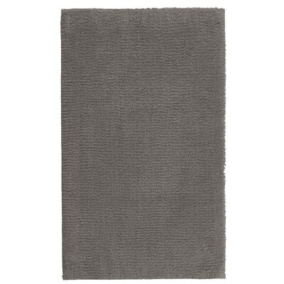 """Fortney Rayon from Bamboo Cloud Bath Rug Color: Dark Anthracite, Size: 20"""" W x 30"""" L"""