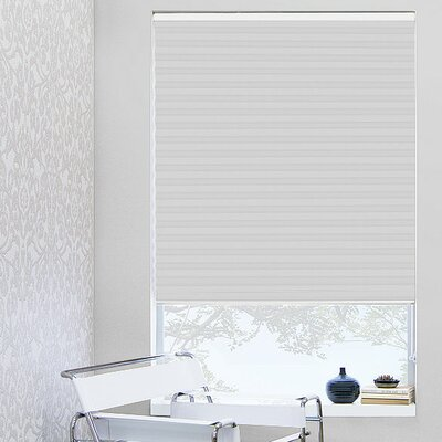 """1"""" White Pleated Shade Width: 23"""", Length: 64"""""""