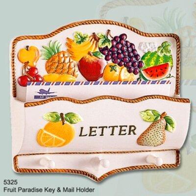 Fruit Paradise Ceramic Mail Holder and Key Hooks