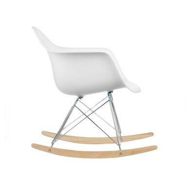 Eula Rocking Chair Color: White