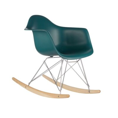 Eula Rocking Chair Color: Ocean Blue