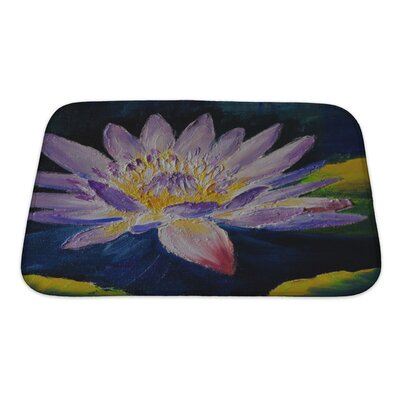Flowers Lotus Flower, Abstract Bath Rug Size: Small