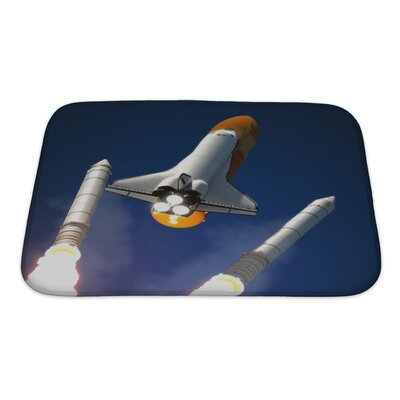 Aircraft Solid Rocket Buster Detached Bath Rug Size: Small