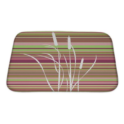 Gecko Abstract Flowers Bath Rug Size: Small