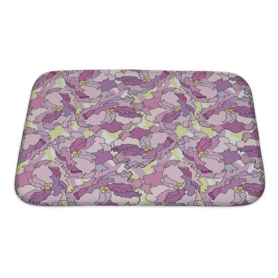 Charlie Flowers Repeating Pattern Bath Rug Size: Small