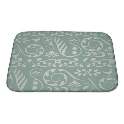 Beta Decorative Pattern with Birds and Elements of Plants Bath Rug Size: Small