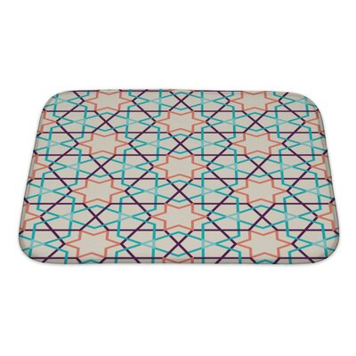 Slide Modern Tangled Pattern Bath Rug Size: Small