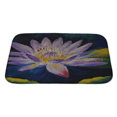 Flowers Lotus Flower, Abstract Bath Rug Size: Large