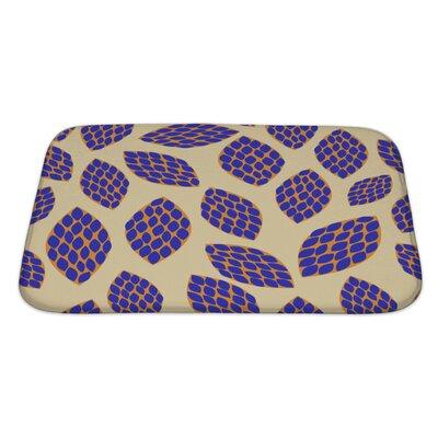 Kilo Hand Drawn Leaf Pattern Bath Rug Size: Large