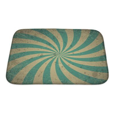Alpha Vintage with Lines Bath Rug Size: Small