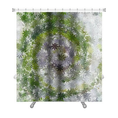 Art Beta Summer Garden Abstract Premium Shower Curtain
