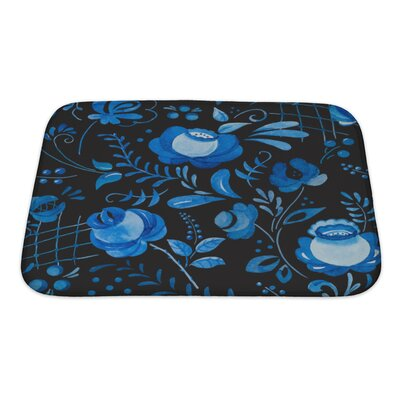 Delta Beautiful Pattern with Traditional Russian Gzhel Ornament Bath Rug Size: Small