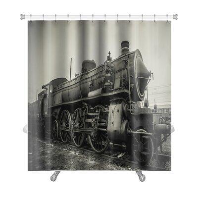 Vintage Old Train Photo Premium Shower Curtain