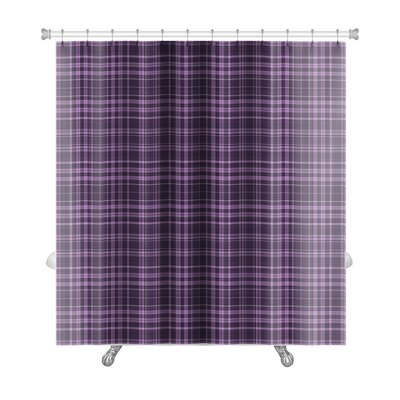 Beta Rich Plaid in Shades Premium Shower Curtain