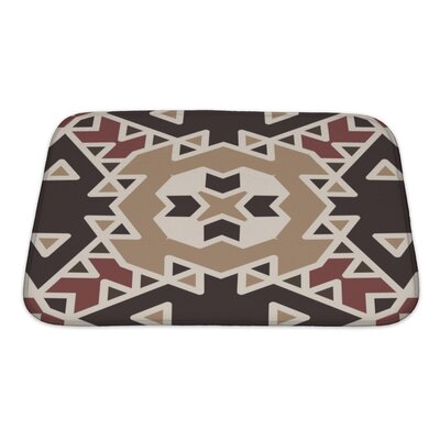 Creek Flat Ethnic Geometrical Ornament Tiles Bath Rug Size: Small