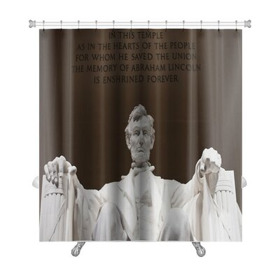 Patriotic Abraham Lincoln at the Lincoln Memorial in Washington DC Premium Shower Curtain