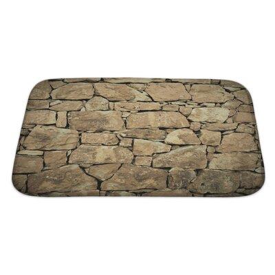 Wood Stone Wall Bath Rug Size: Large