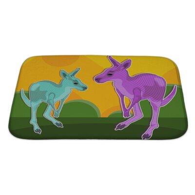 Animals Kangaroo Imagination Bath Rug Size: Large