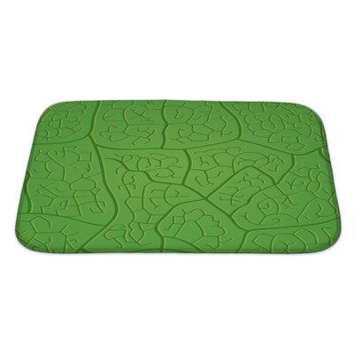 Leaves Macro Leaf Dark Veins Pattern Bath Rug Size: Large