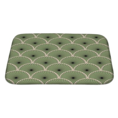 Simple Abstract Stylish Motif Bath Rug Size: Large
