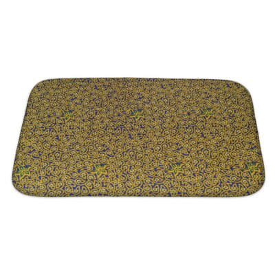 Charlie Close Up Beautiful Flower and Leaf Pattern Bath Rug Size: Large