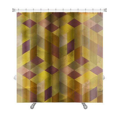 Delta Vintage Pattern Abstract Premium Shower Curtain Color: Yellow/Beige