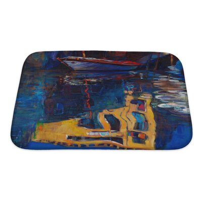 Art Beta Venice Boat and Building Reflection Bath Rug Size: Small