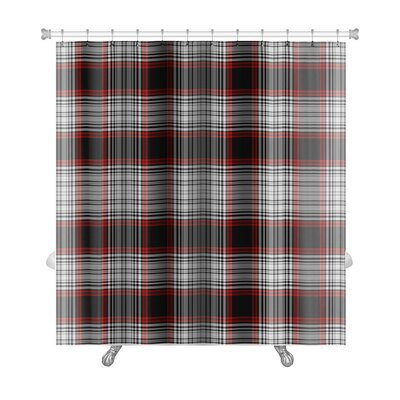 Picnic Bright Bold Plaid Premium Shower Curtain