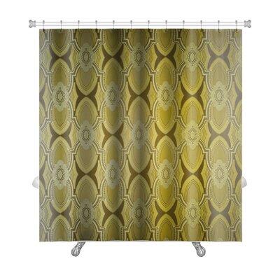 Beta Vintage Wallpaper Premium Shower Curtain