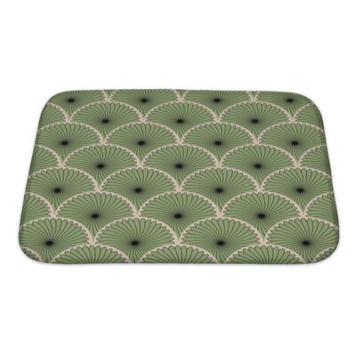 Simple Abstract Stylish Motif Bath Rug Size: Small