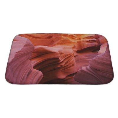 Landscapes Antelope Canyon in the Navajo Indian Reservation Bath Rug Size: Large
