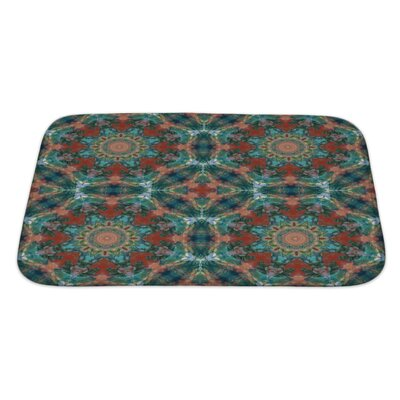 Kilo Artistic Geometric Colorful Pattern, Painting in Oils Bath Rug Size: Large