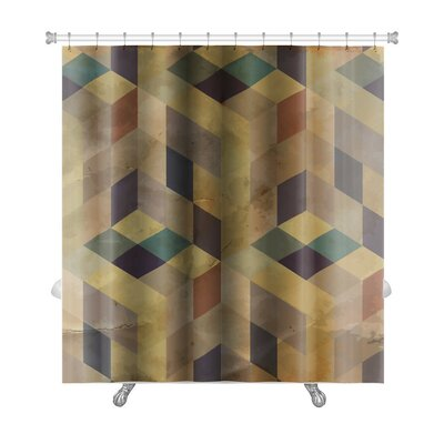 Delta Vintage Pattern Abstract Premium Shower Curtain Color: Sand
