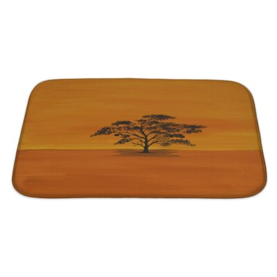 Nature Acrylic Acacian in Africa by a Private Painter Bath Rug Size: Large