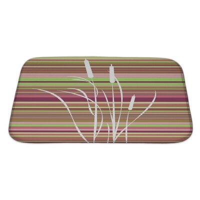 Gecko Abstract Flowers Bath Rug Size: Large