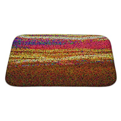 Art Alpha Abstract Blurred Blurred Effect, Rainbow Gradient Bath Rug Size: Large