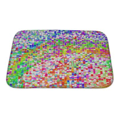 Art Beta Colorful Geometric from Mosaic Tiles, without Gradient Bath Rug Size: Small