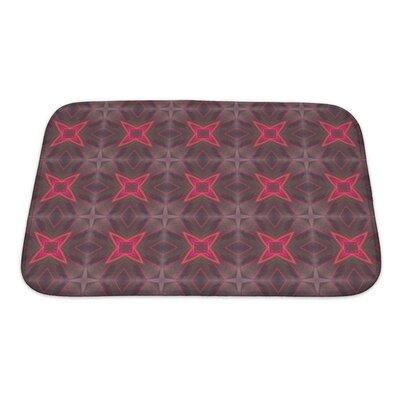 Simple Ethnic Pattern Geometric Kaleidoscope Bath Rug Size: Small