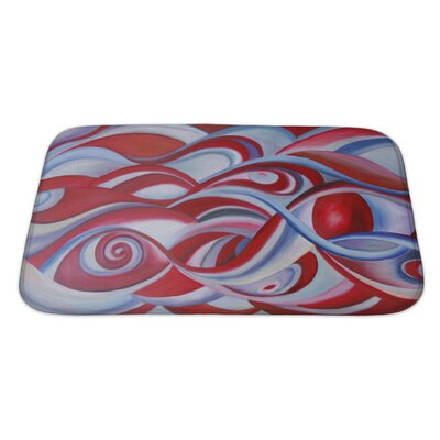 Art Hard Modern Painting of Sky or Universe Bath Rug Size: Large