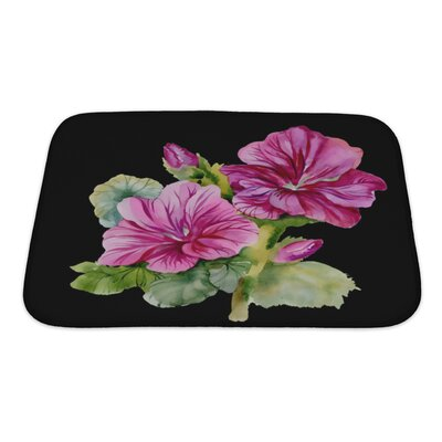 Flowers Colorful Bath Rug Size: Small