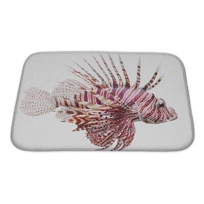 Fish Lionfish, Pterois Volitans Bath Rug Size: Small